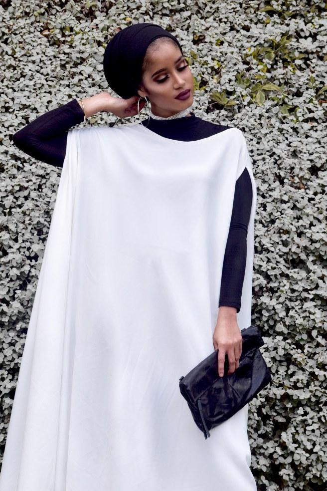 White Maxi Tent Dress Hijabi 01